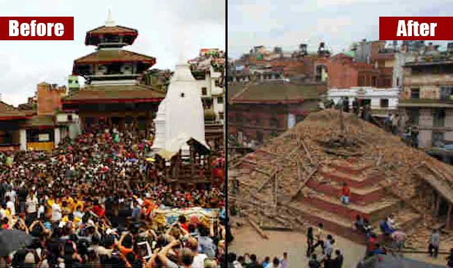 after and before earthquake