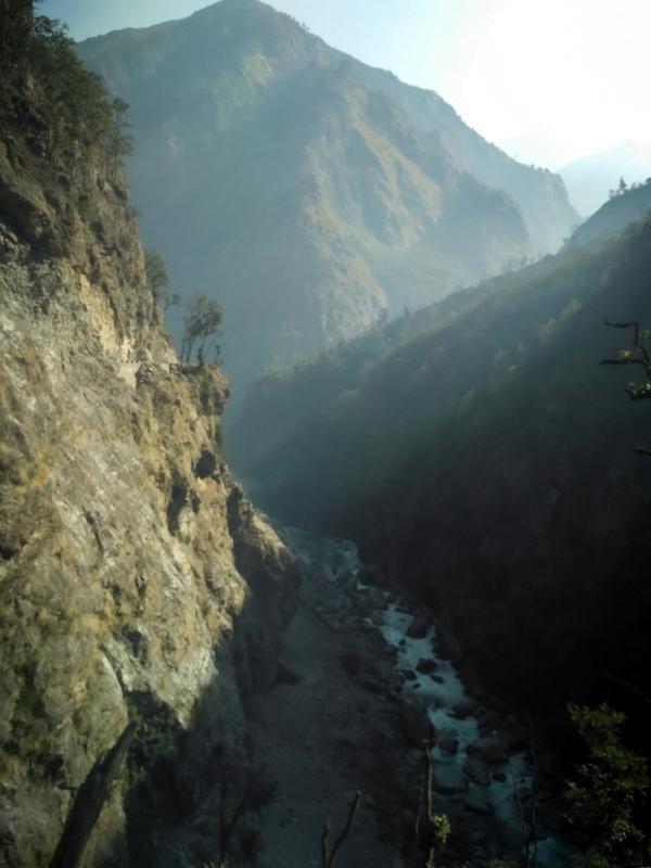 Stunning view of Maccha Khola, Manaslu trek